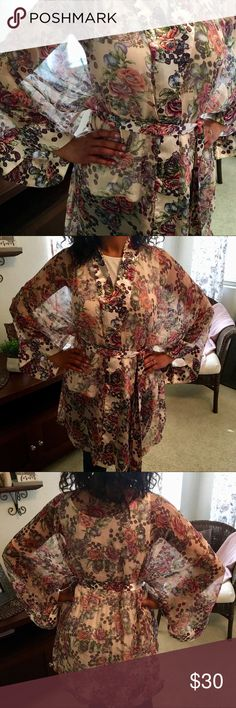 🍃🌸New: Gorgeous Victoria's Secret Floral Robe🍃 🍃🌸New Listing: Gorgeous Victoria's Secret Floral Robe🌸🍃This Robe is super light, made of sheer like material. It has a Beautiful Floral Print, a tie on the inside and wrap around tie closure. It's knee length with 3/4 angel wing sleeves. Perfect for the season! Great condition! Comes from a smoke-free, pet-free home:)💕🧚🏽‍♂️ Victoria's Secret Intimates & Sleepwear Robes