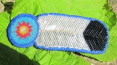 Black and White Beadwork Eagle Feather and Rosette Barrette, 'Sky' on Etsy, $68.81 AUD