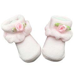 아기 소녀 양말 새로운 부드러운 신생아 아기 유아 소년 소녀 양말 0 ~ 6 월 꽃 레이스 발목 양말