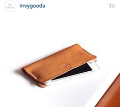 $38 for iPhone 5, $46 for iPhone 6 plus Dimensions: 15 cm x 7 cm (iPhone 5 in frame - 6 stitches, size will vary depending on phone model chosen). Material: 4 to 5 oz Italian Vegetable Tanned Leather finished with 100% neatsfoot oil for durability.