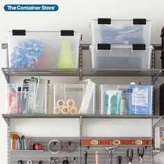Shop our garage storage totes and crates and keep tools and paint supplies organized and ready at a moment's notice! (Shown: Weathertight Totes, European Crates) Storage Tubs, Shop Storage, Bag Storage, Garage Organization, Garage Storage, Paint Supplies, Plastic Bins, Packing Boxes, Container Store