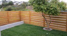 Horizontal Fence Ideas Horizontal Wood Fence Panels