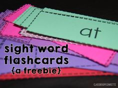 6 Ways to Use Sight Word Flash Cards. Learn how to use sight words in your primary classroom. Included is a FREEBIE set of sight word flash cards! Perfect for kindergarten, first, second, and third grade! Classroom Confetti