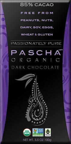 PASCHA Organic Dark Chocolate | Passionately Pure | Allergen Free | 85% Cacao