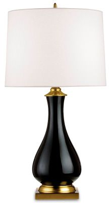 Currey & Co. Lynton Table Lamp - Black