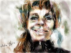 Zelfportret, geschilderd op mijn iPad met #Paper