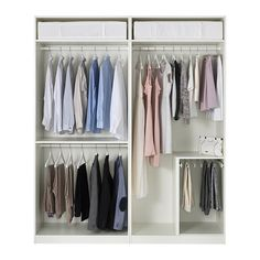 Discover the IKEA PAX wardrobe series. Design your own PAX wardrobe inside and out, from door styles, to shelves, to interior organizers and more. Pax Corner Wardrobe, Ikea Pax Wardrobe, Bedroom Wardrobe, White Wardrobe, Wardrobe Storage, Ikea Elvarli, Pax Planer, Closet Ikea, Pax Closet