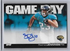 RASHAD JENNINGS 2011 TOPPS GAMEDAY AUTO MINT FROM PACK