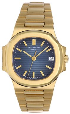 Patek Philippe Gold Nautilus Men's Watch Ref. High End Watches, Cool Watches, Rolex Watches, Elegant Watches, Beautiful Watches, Patek Philippe Aquanaut, Patek Philippe Calatrava, Luxury Watches For Men, Automatic Watch