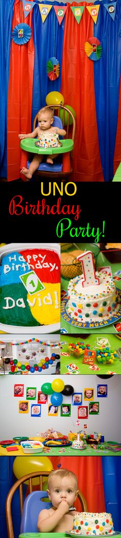 Great ideas for throwing an UNO birthday party for your little one!