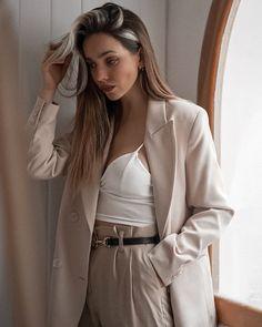 Streetwear, Street Style, Beige, Blazer, Portrait, Casual, Fashion, Street Outfit, Moda