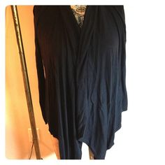 Black lightweight knit sweater This is a lightweight black sweater. Size medium, international concepts brand. Long sleeve. Drapes in the front. INC International Concepts Sweaters Cardigans