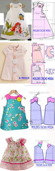 New moda infantil baby vestidos Ideas Little Dresses, Little Girl Dresses, Girls Dresses, Infant Dresses, Dresses Dresses, Fashion Kids, Fashion Sewing, Dress Anak, Baby Dress Patterns