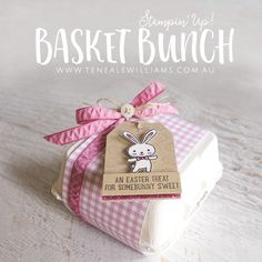 By Teneale Williams   Easter egg packaging ideas using Stampin' Up! Product   Basket Bunch stamp set