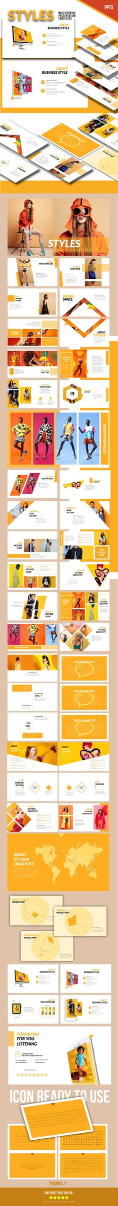 The Styles - Presentation Templates - #PowerPoint Templates #Presentation #Templates