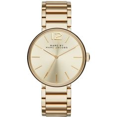 Marc by Marc Jacobs Women's Peggy Gold-Tone Stainless Steel Bracelet... ($250) ❤ liked on Polyvore