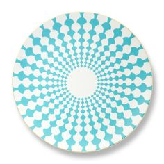 Turquoise Grande Zelda Bone China Charger Plate l B by Brandie