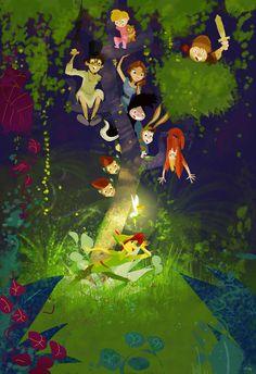 Wonderground Gallery :Peter Pan by Pascal Campion Walt Disney, Disney Pixar, Animation Disney, Disney Nerd, Disney Films, Disney Fan Art, Disney And Dreamworks, Disney Love, Disney Magic