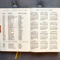 To make sure you're planning your new year well, you ought to plan ahead. This post includes 14 bullet journal layouts to help you plan for your new year.