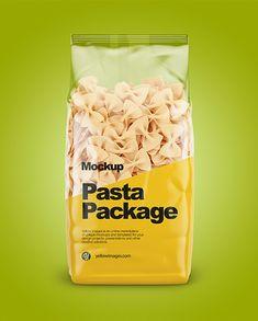 Fiocchi Rigati Pasta Mockup – Front View