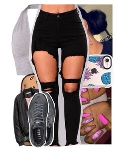 """"" by heeytyy ❤ liked on Polyvore featuring Casetify, H&M and Puma"