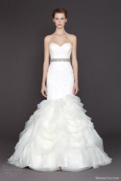 winnie couture bridal fall2015 nicolette strapless mermaid wedding dress ruffle skirt