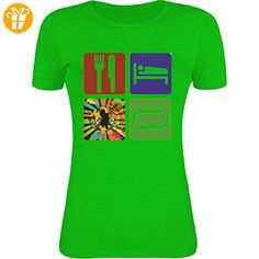 Eat sleep rave repeat graphic Womens T-Shirt XX-Large (*Partner-Link)