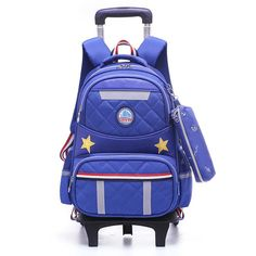 c429ceb677 Children School Bags with Wheels Removable Kids Child Trolley School Bag  Boys Girls Rolling school Backpack