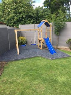 Re-bound grey chippings - ordered! - Oxana Dexheimer - Re-bound grey chippings - ordered! Re-bound grey chippings - ordered! Kids Backyard Playground, Backyard Swing Sets, Backyard Playset, Diy Swing, Backyard For Kids, Backyard Projects, Backyard Patio, Backyard Landscaping, Playground Ideas