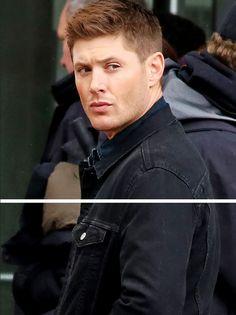 Jensen, on set March 11, 2015 - click through for full shot!