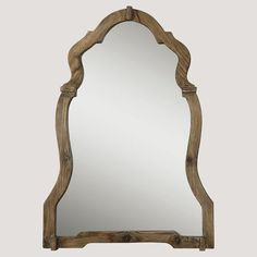 Walnut Ornate Mirror | PBteen.  Double Mirrors at master bath suite. Concept. #homedecorators
