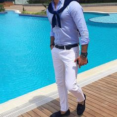 Sky blue #simple #style_tribe_guy. Visit Tailor4less.com