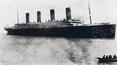 One of the alleged last photos taken of the Titanic before its sinking in April 1912