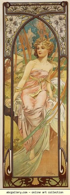 Alphonse Mucha. Morning Awakening. From The Times of the Day Series.