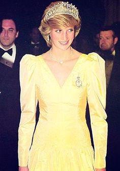 Diana llevaba el nudo tiara de los Enamorados y el orden de la familia: