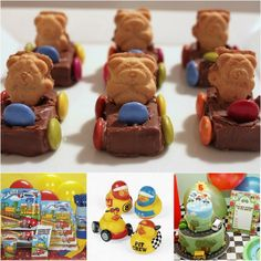 Teddy Car biscuits - easy to make and great for a toddler party