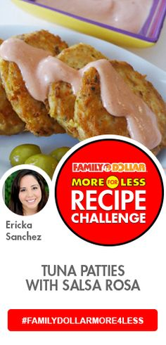 Tuna Patties in Salsa Rosa Family Dollar More for Less Recipe Challenge #FamilyDollarMore4Less