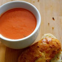 """Homemade Tomato Soup; approved by all but """"the picky one"""" who said she didn't like the """"ending taste"""". I used half the garlic and did not use cream. Next time try no garlic and maybe a teeny bit more basil"""