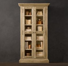 enclosed bookshelf basic IKEA with additional a little bit of additional trim and finish