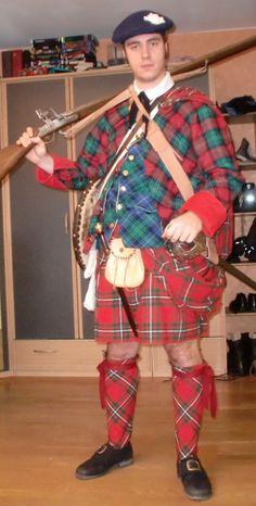Scottish Jacobite garb, 1745-46