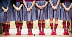 Picture your entire wedding party in socks from Sock Dreams (plus win free socks)! | Offbeat Bride