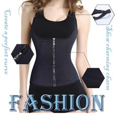 9e9a9df6943e5 Bodysuit Women Slimming Zipper Waist Trainer Hot Body Shaper Tummy Waist  Tank Corrective Shapewear