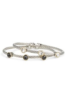 Charriol 'Classique' Bangle available at Diamond District, Bangles, Bracelets, Luxury Fashion, Great Gifts, Pandora, Nordstrom, Cable Wire