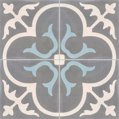 Another beautiful tile design, deff need something patterned for our small entrance to spice it up! Stone Flooring, Kitchen Flooring, Entry Tile, Victorian Tiles, Vinyl Tiles, Cement Tiles, Tile Stencils, Spanish Tile, Encaustic Tile
