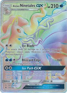 Alolan Ninetales-GX - - Secret Rare - Sun & Moon: Guardians Rising: An individual card from the Pokémon trading and collectible card game (TCG/CCG). This is of the Secret Rare rarity. Cool Pokemon, Pokemon Fan, Alolan Ninetales, Three's Company, Pokemon Cards, How To Apply, Sun Moon, Rarity, Game