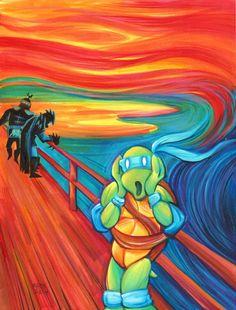 Famous Art Pieces, Famous Artwork, Scream Parody, Appropriation Art, Le Cri, 8th Grade Art, Expressionist Artists, Art Plastique, Funny Art