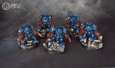 WH40K Display Crimson Fists first company - Warhammer 40K Fantasy