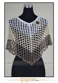 New summer fashion hot sale multi-color stripe crochet handmade tops/poncho Crochet Blouse, Knit Crochet, Crochet Hats, Crochet Flower Patterns, Crochet Designs, Knitting Paterns, Crochet Shawls And Wraps, Clothing Patterns, Creations