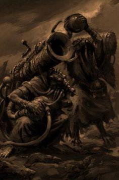 Skaven Poisoned-Wind Mortar Fantasy Battle, Fantasy Races, Fantasy Warrior, Fantasy Rpg, Medieval Fantasy, Fantasy Artwork, Fantasy World, Dark Fantasy, Warhammer Skaven