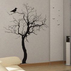 Bare Tree 2 Uber Decals Wall Decal Vinyl Decor Art Sticker Removable Mural Modern A251